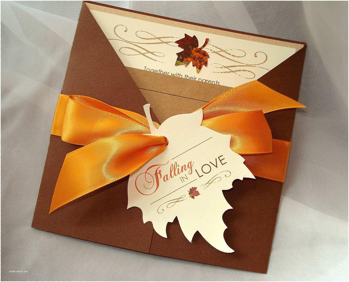 Unique Fall Wedding Invitations Falling In Love Invite Fall Wedding Invitation Autumn