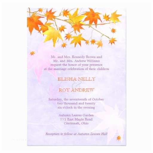 Unique Fall Wedding Invitations Rural Maple Tree Unique Fall Wedding Invitations