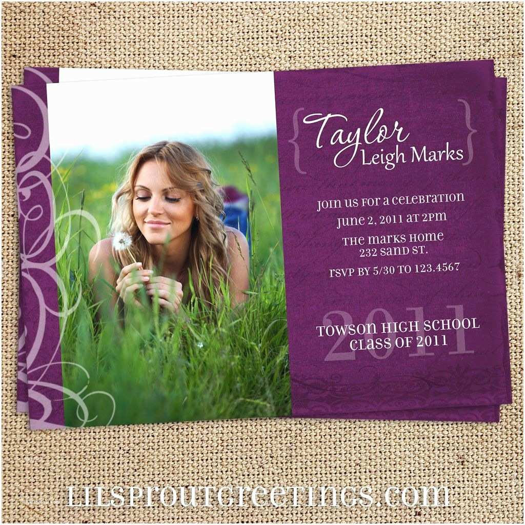 Unique Graduation Invitations Unique Graduation Invitations for Girls