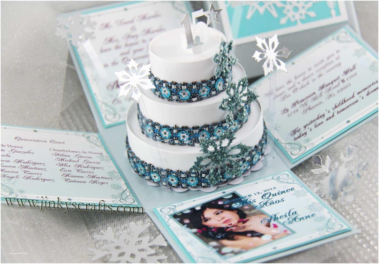 Unique Quinceanera Invitations Jinky S Crafts & Designs Winter Wonderland Quinceañera