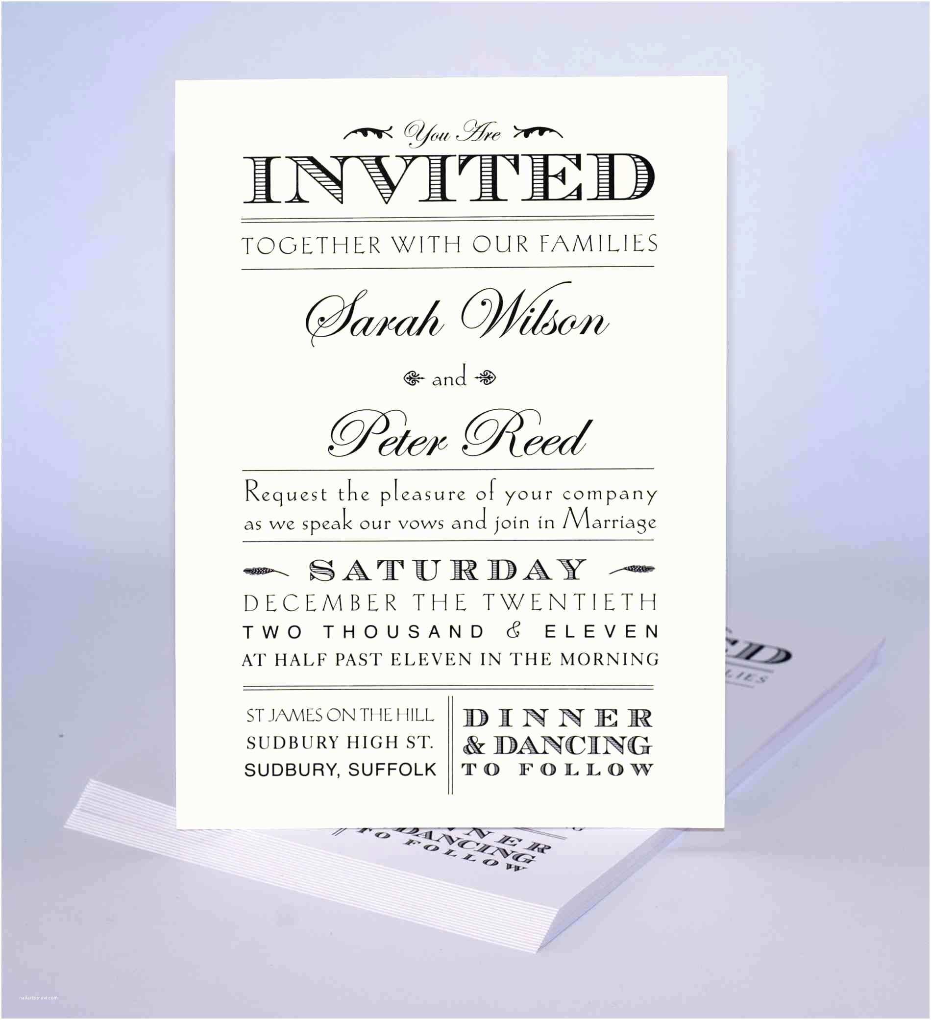 Unique Wedding Invitation Wording Unique Wedding Invitations Samples