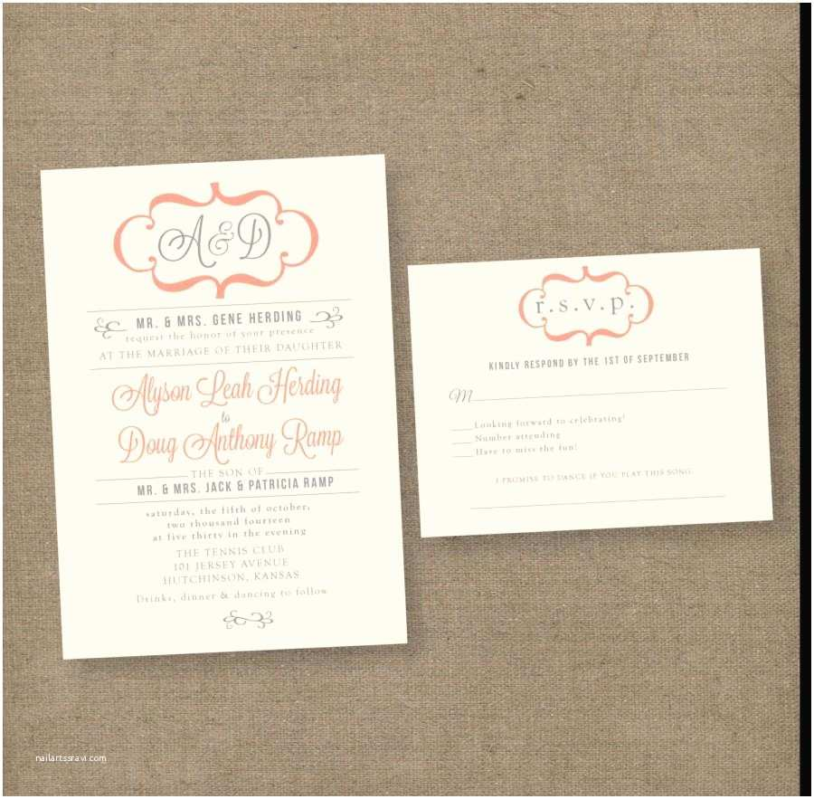 modern vintage wedding invitations unique wedding invites formal elegant blush gray modern rustic by anna malie design in love studio