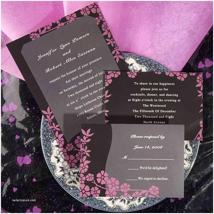 Unique Wedding Invitations Online Unique Wedding Invitations Online Pink and Black Ewi048 as
