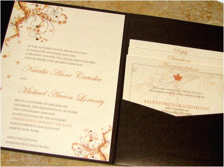 Unique Wedding Invitations Unique Fall Wedding Invitations