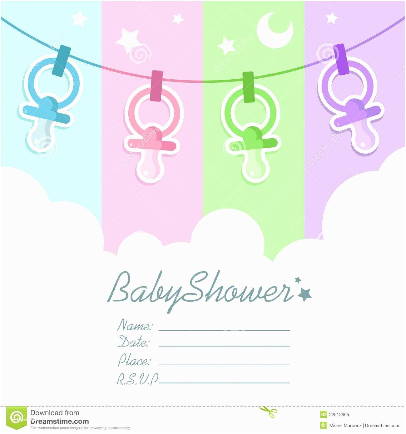 Unisex Baby Shower Invitations Blank Baby Shower Invitations
