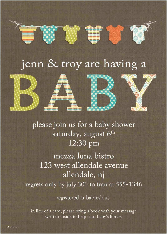 Unisex Baby Shower Invitations Gender Neutral Baby Shower Invitations Bunting Bodysuit Banner