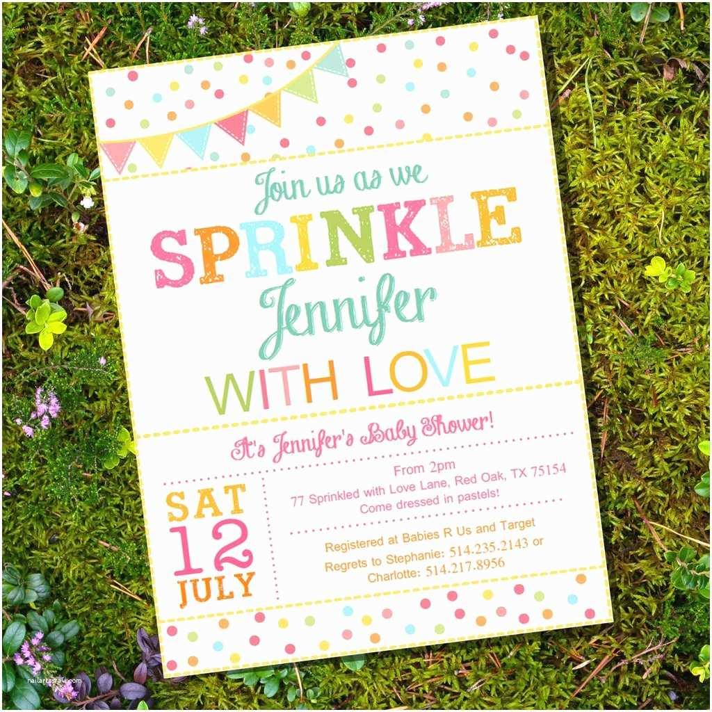Unisex Baby Shower Invitations Uni Sprinkle Baby Shower Invitation for A Girl Boy