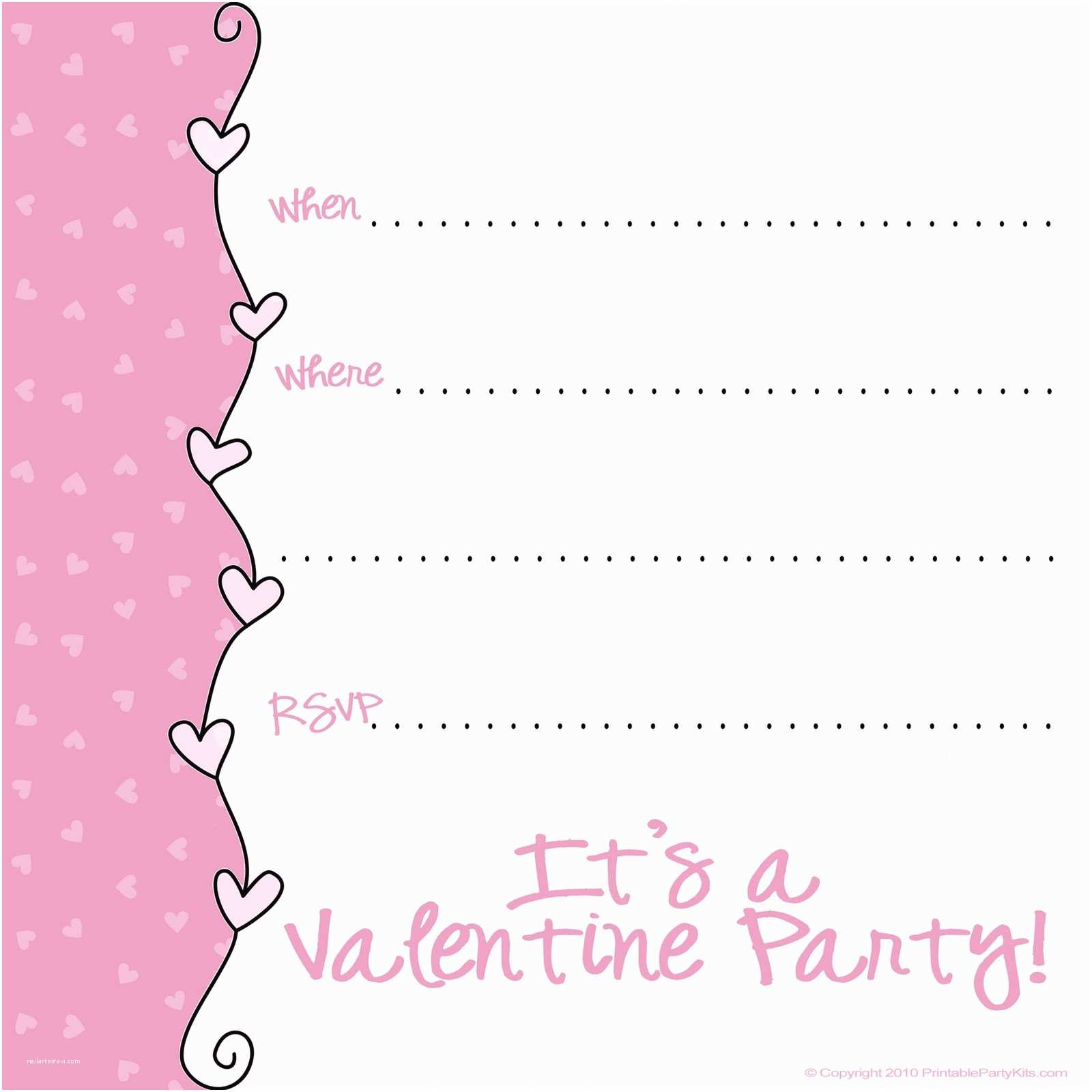 Valentine Party Invitations 9 Best Of Valentine S Day Printable Party