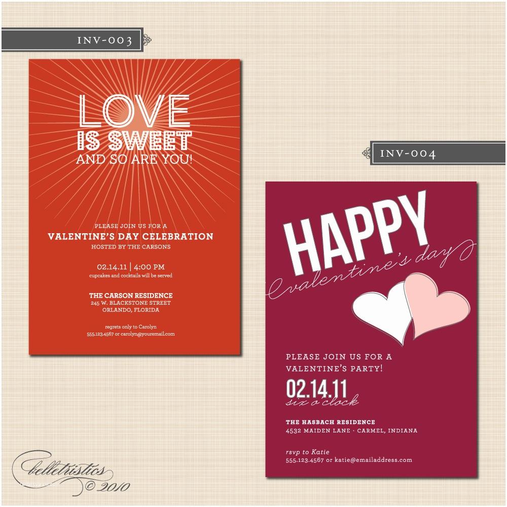 Valentine Party Invitations Interesting Valentine Day Party Invitation Card Ideas