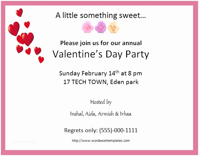 Valentine Party Invitations Ms Word Valentine S Day Party Invitation Cards