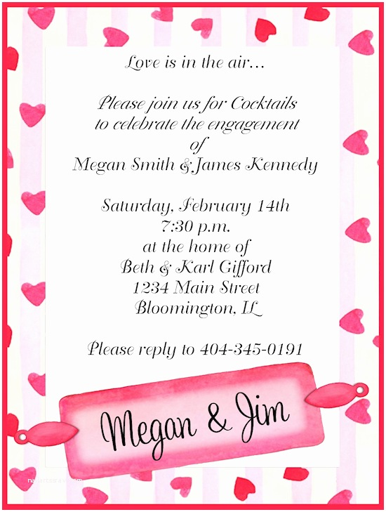 Valentine Party Invitations Thank You Party Invitation Wording