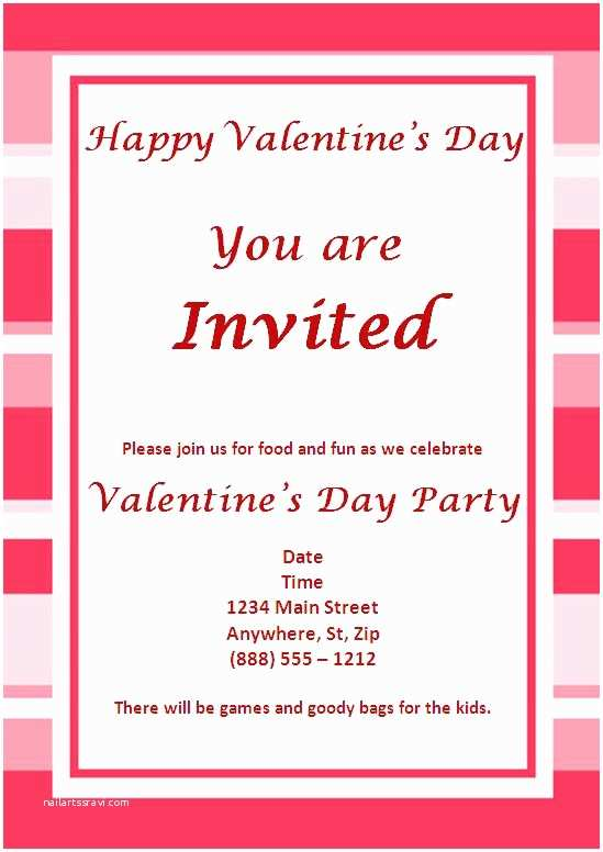 Valentine Party Invitations Valentines Party Invitations