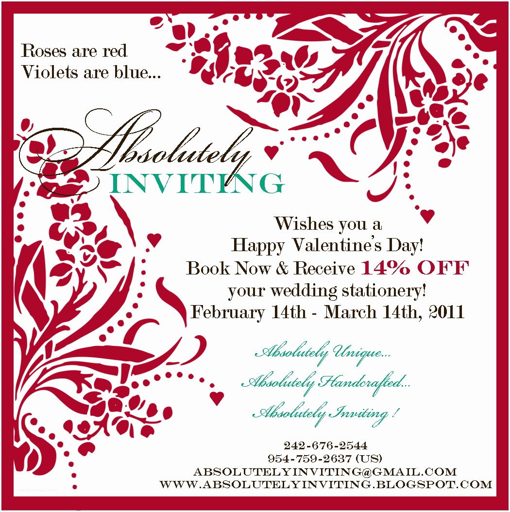 Valentines Day Party Invitations attractive Valentine S Day Invitation Card with Red Floral