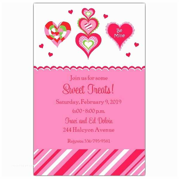 Valentines Day Party Invitations Hearts Galore Valentines Invitations