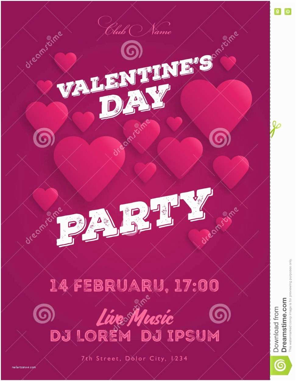 Valentines Day Party Invitations Party Invitation Templates Valentine S Day Party