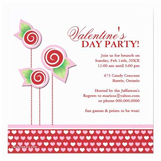 "Valentines Day Party Invitations Valentine S Day Party Invitation 5 25"" Square Invitation"