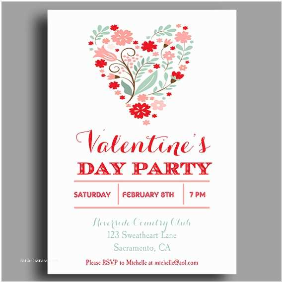 Valentines Day Party Invitations Valentine S Invitation Printable or Printed with Free