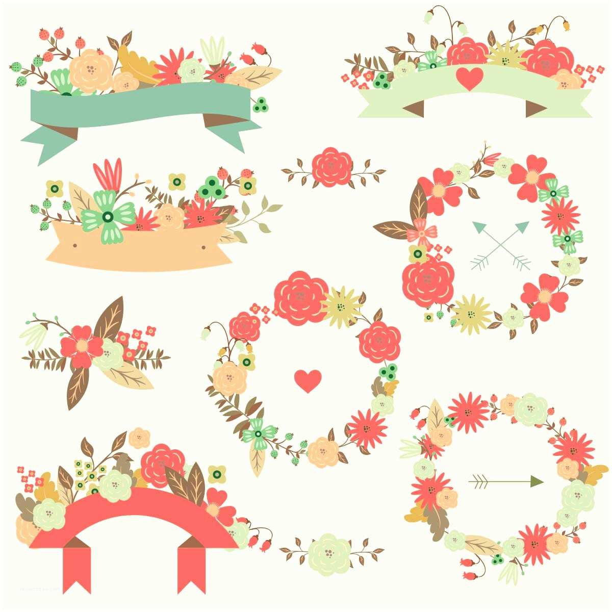 Vector Flowers for Wedding Invitations 19 Floral Wedding Vector Free Flower Vector