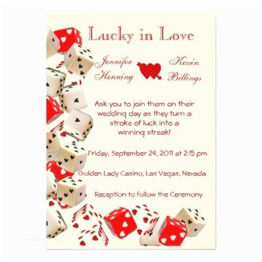 Vegas Wedding Invitations Casino Las Vegas Wedding Invitation Announcement