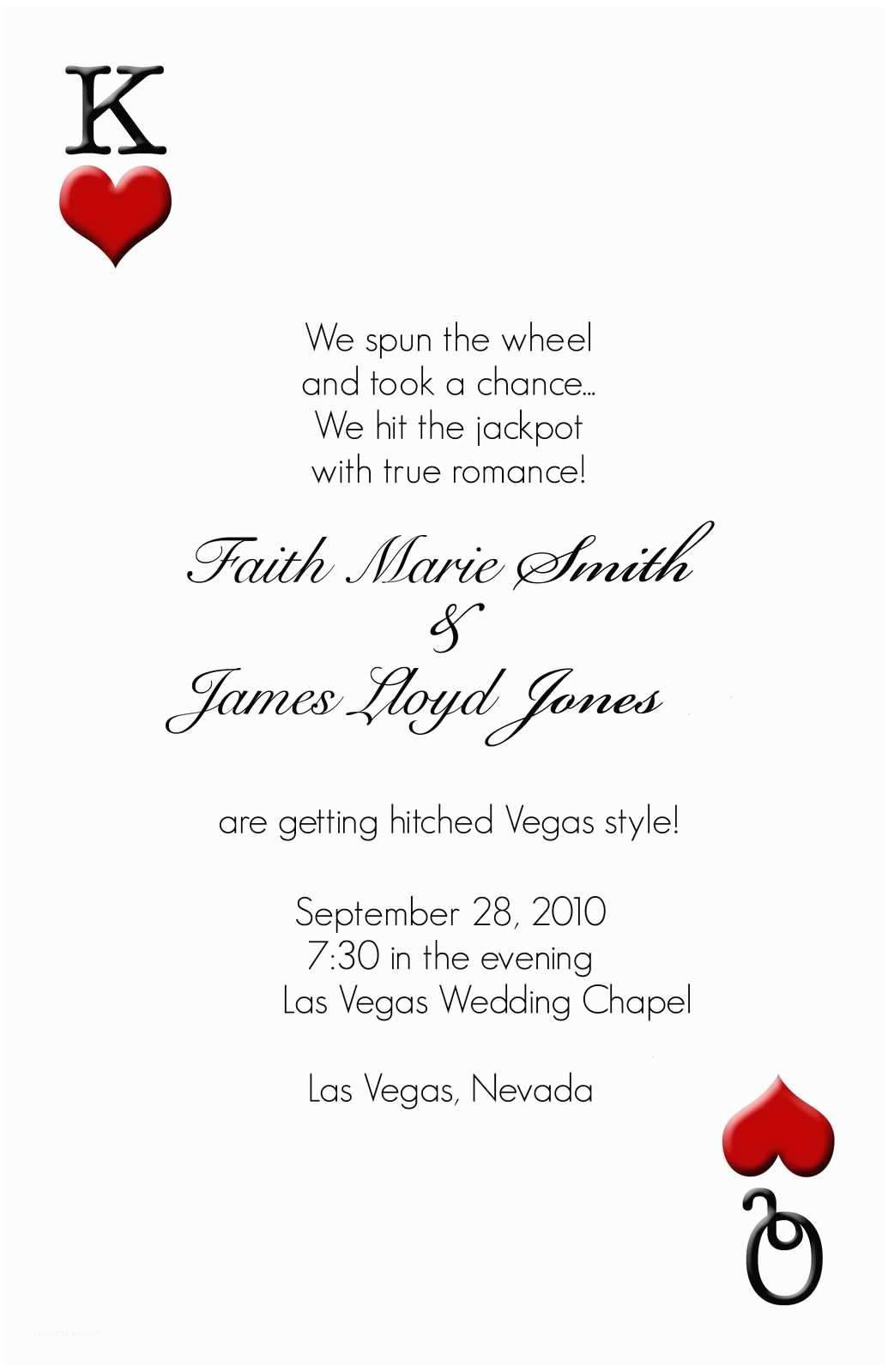 Vegas Wedding Invitations Las Vegas Wedding Invitations