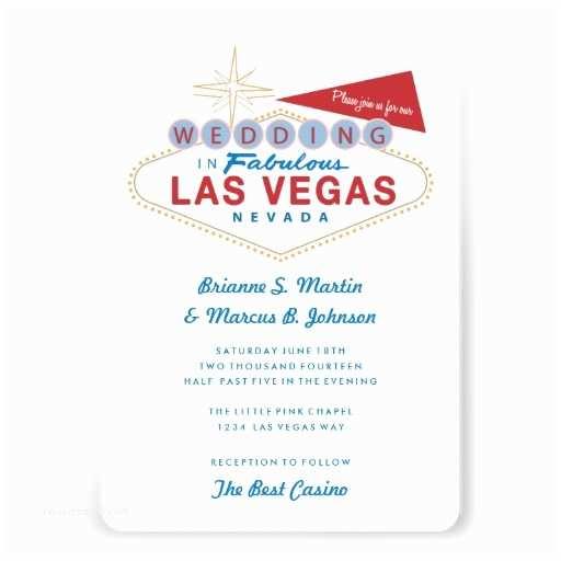 Vegas Wedding Invitations Personalized Vegas Invitations