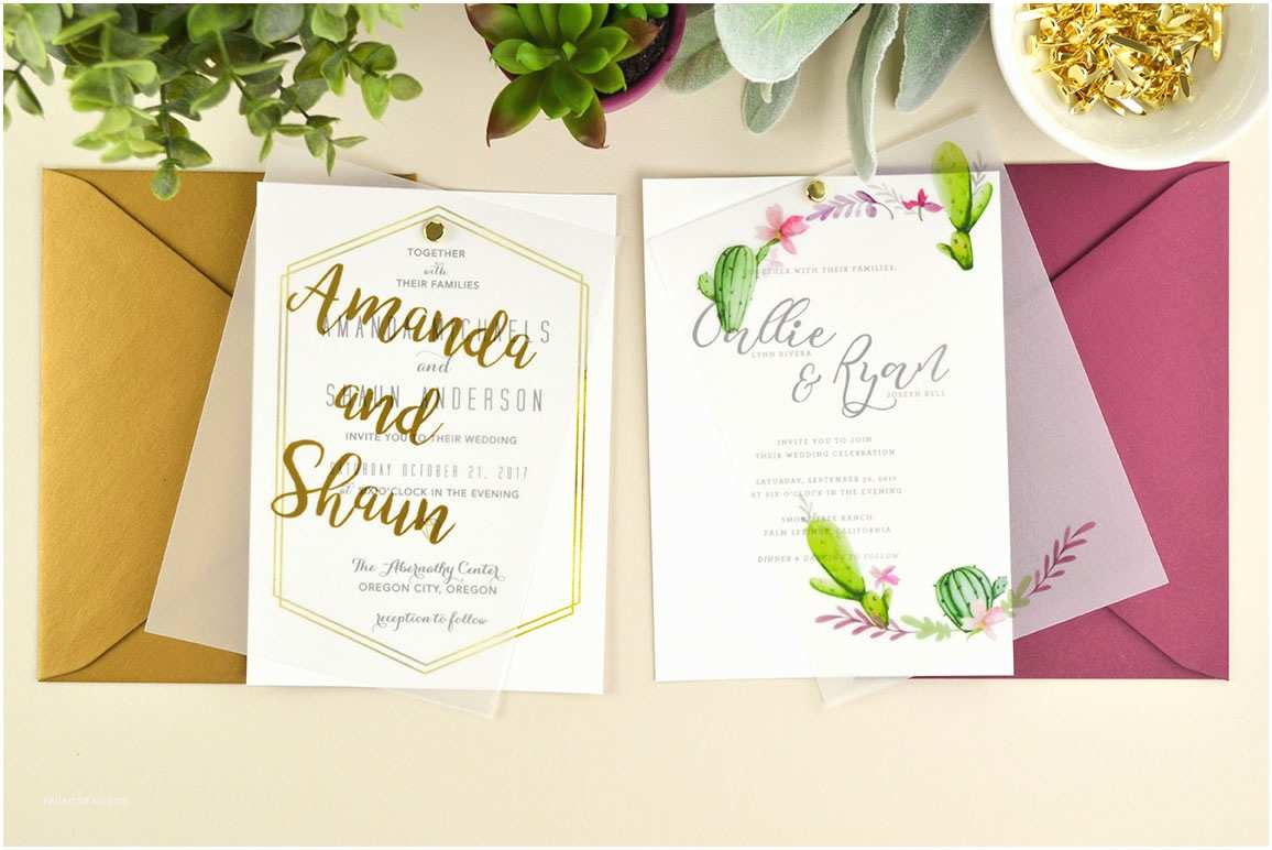 Vellum Wedding Invitations 4 Ways to Diy Elegant Vellum Wedding Invitations Cards