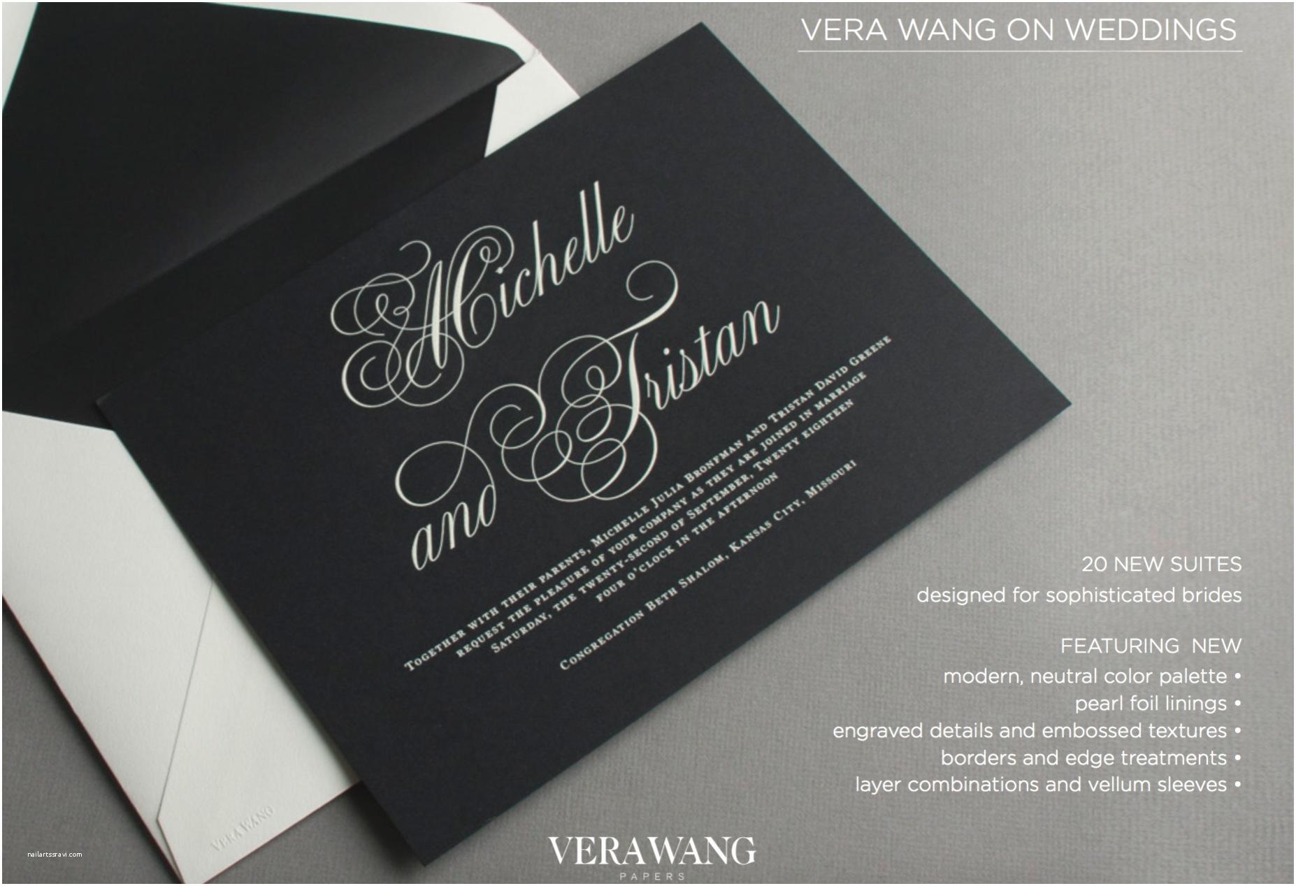 Vera Wang Wedding Invitations Wedding Invitations Custom Letterpress and Other Fine