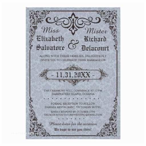 Victorian Wedding Invitations Gothic Victorian Wedding Invitation