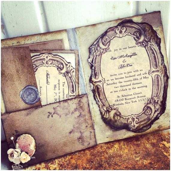 Victorian Wedding Invitations Pocketfold Wedding Invitations Vintage Book Victorian