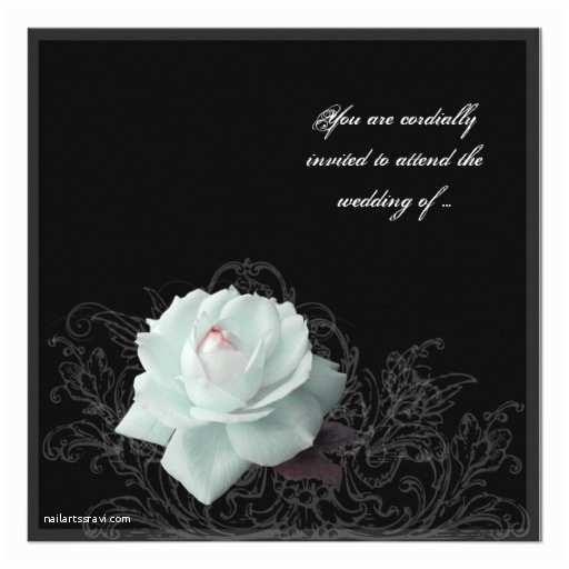 "Victorian Wedding Invitations Victorian Goth Wedding Invitation 5 25"" Square Invitation"
