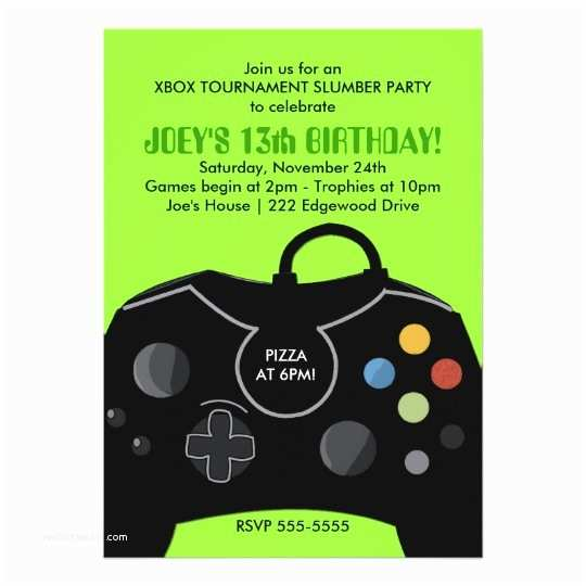 Video Game Party Invitations Boys Birthday Video Game Station Party Invitation