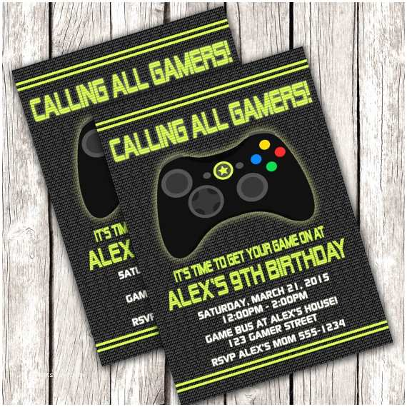 Video Game Party Invitations Gamer Invitation Video Game Birthday Party Diy Printable