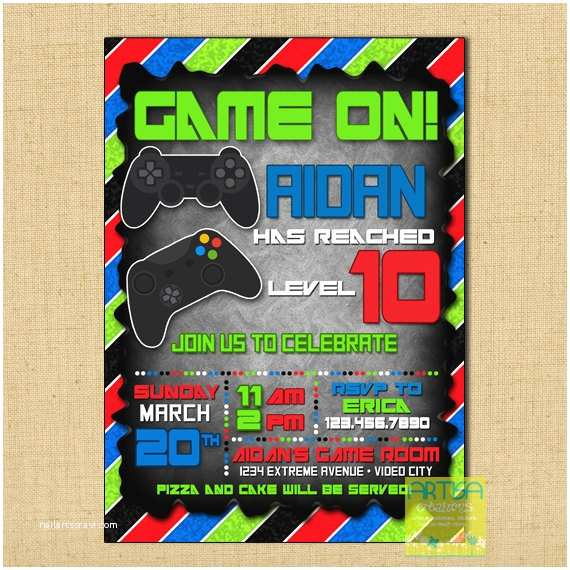 Video Game Party Invitations Gaming Invitation Video Game Invitation Video Game Birthday