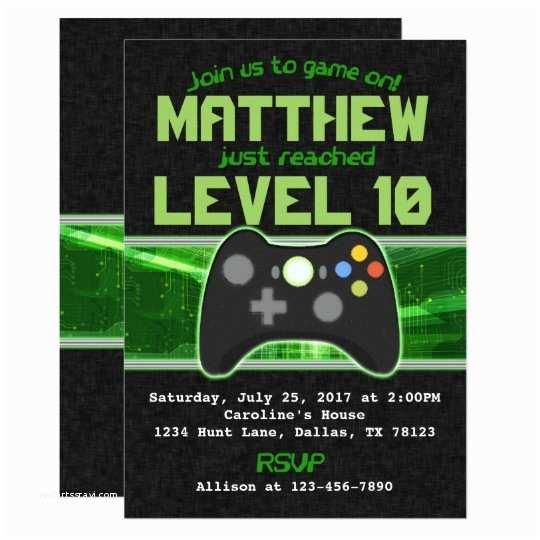 Video Game Party Invitations Video Game Birthday Party Invitation Invite