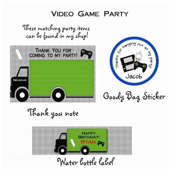Video Game Party Invitations Video Game Birthday Party Invitation Video Game Invitation