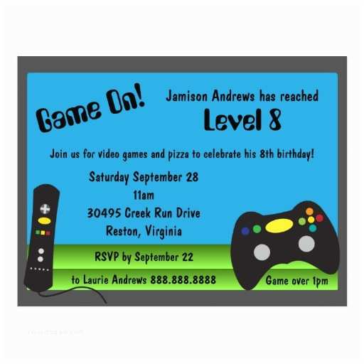 video game truck birthday party invitations postcard