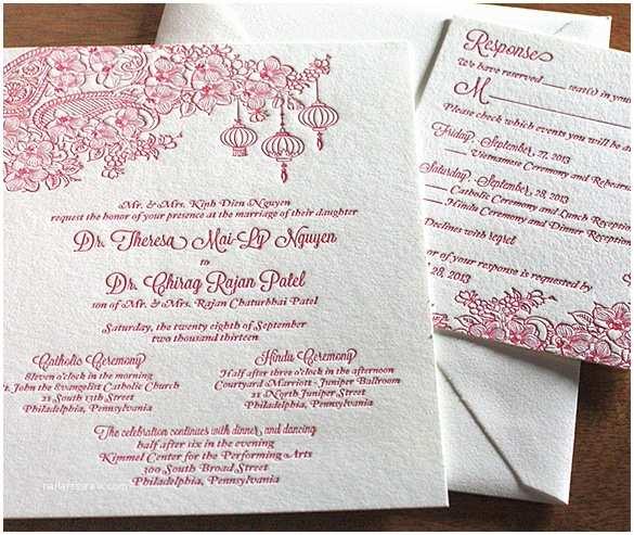 Vietnamese Wedding Invitations Impressive Vietnamese Wedding Invitations