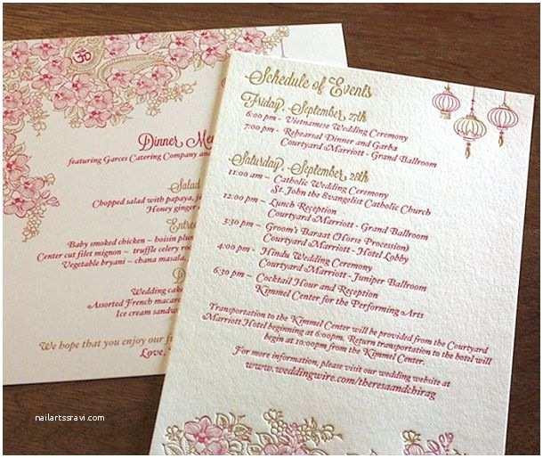 Vietnamese Wedding Invitations Vietnamese Wedding Invitation Bromente