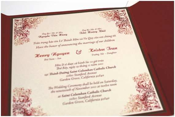 Vietnamese Wedding Invitations Wedding Invitation Wording Wedding Invitation Wording