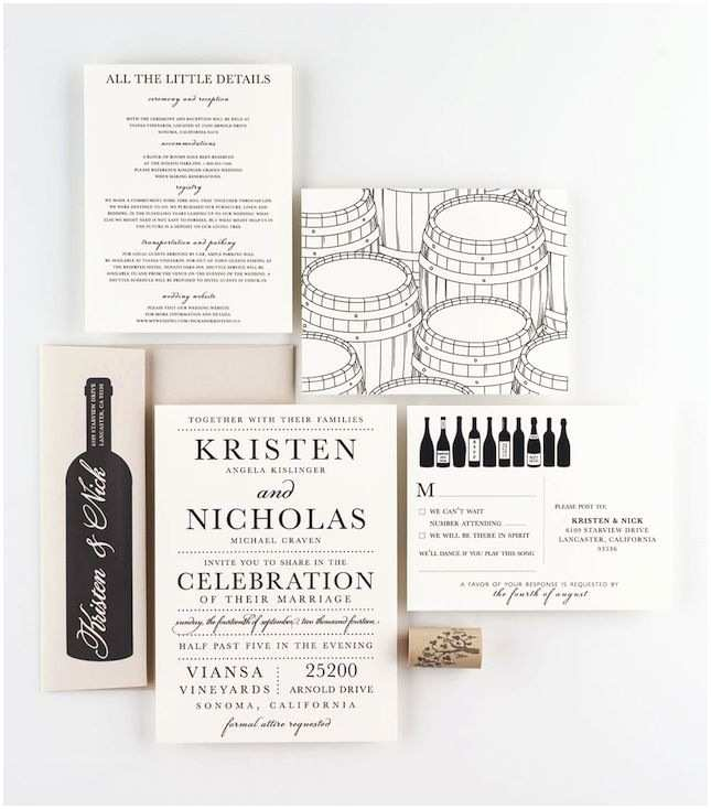 Vineyard Wedding Invitations 168 Best Invitations Images On Pinterest