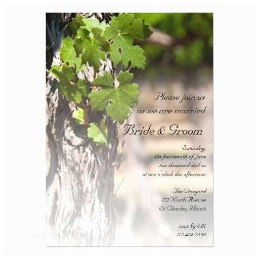 Vineyard Wedding Invitations Grape Leaves Vineyard Winery Wedding Invitation