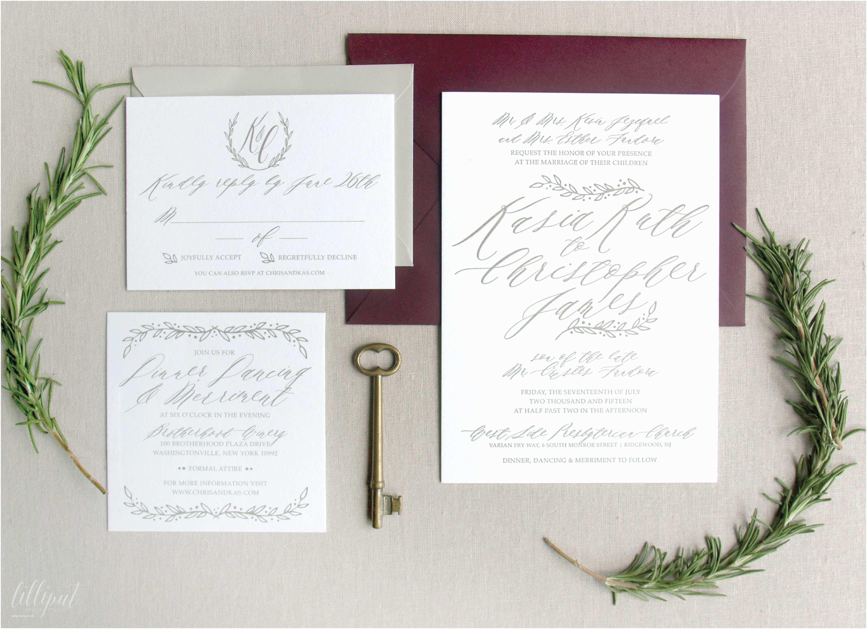 Vineyard Wedding Invitations Romantic Vineyard Wedding