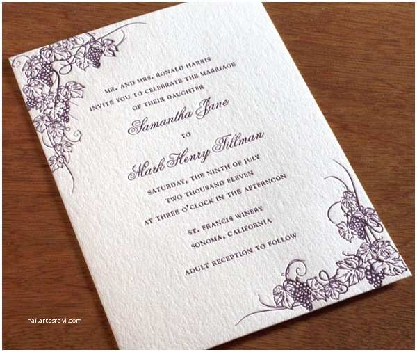 Vineyard Wedding Invitations Vineyard Inspired Wedding Invitation Designs