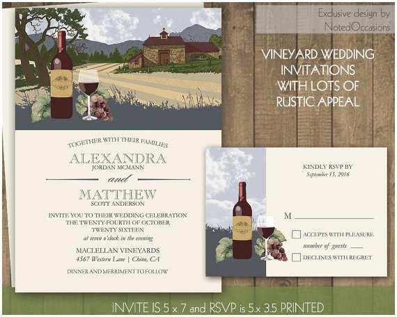 Vineyard Wedding Invitations Vineyard Wedding Invitation Suite Printable by Notedoccasions