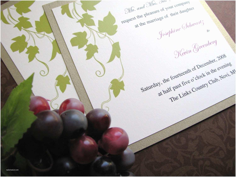 Vineyard Wedding Invitations Wine Invitation Vineyard Wedding Invitation Grapevines