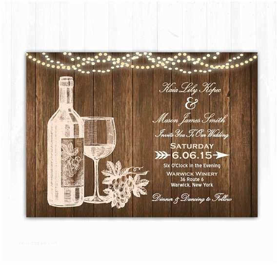 Vineyard Wedding Invitations Wine Wedding Invitation Diy Printable Digital File or