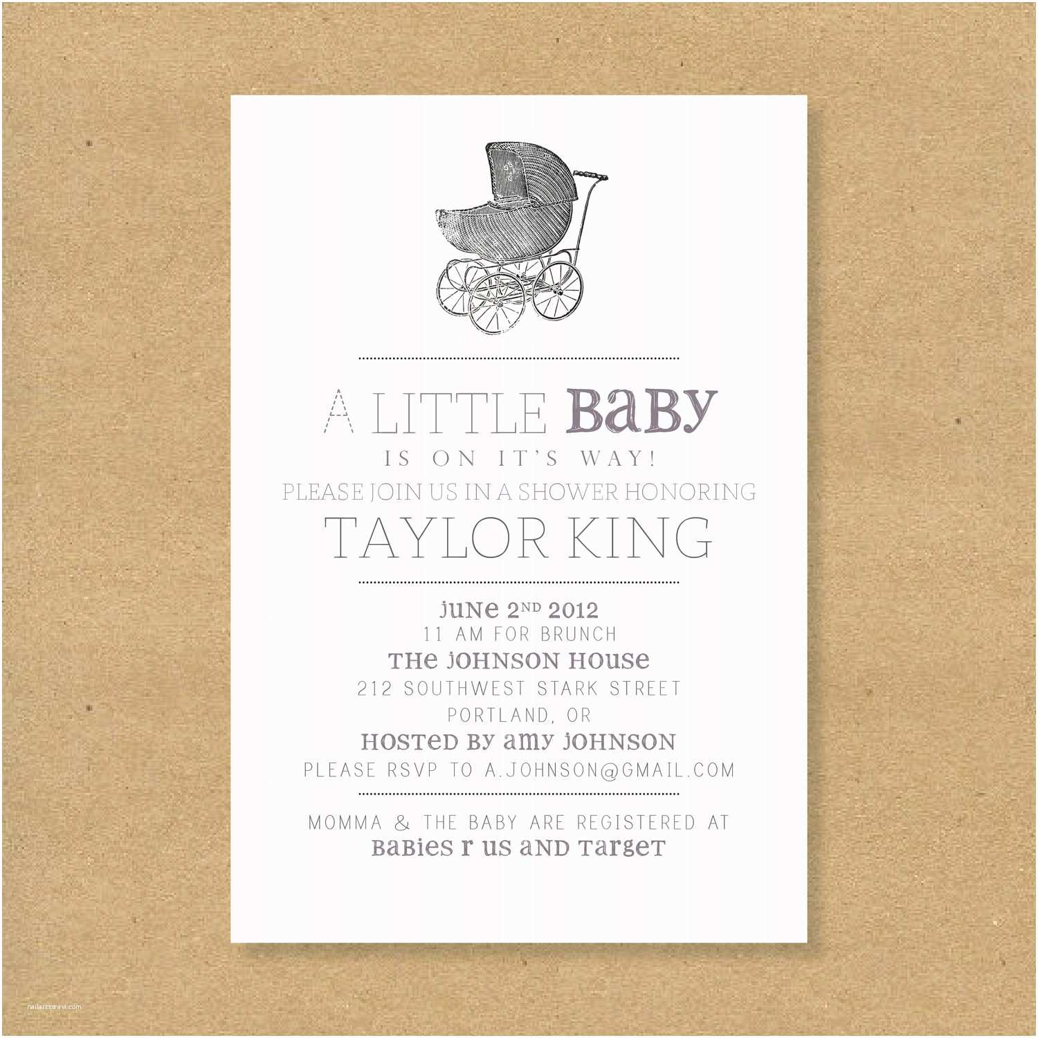 Vintage Baby Shower Invitations Baby Shower Invitation Vintage Baby Carriage Boy by Henandco