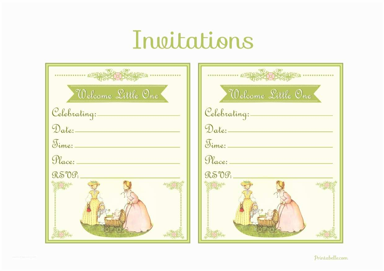Vintage Baby Shower Invitations Free Vintage Baby Shower Printables From Printabelle