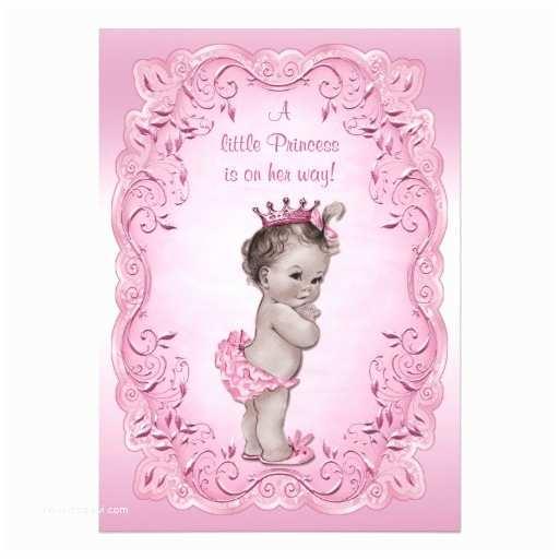 Vintage Baby Shower Invitations Pink Vintage Princess Baby Shower Invites