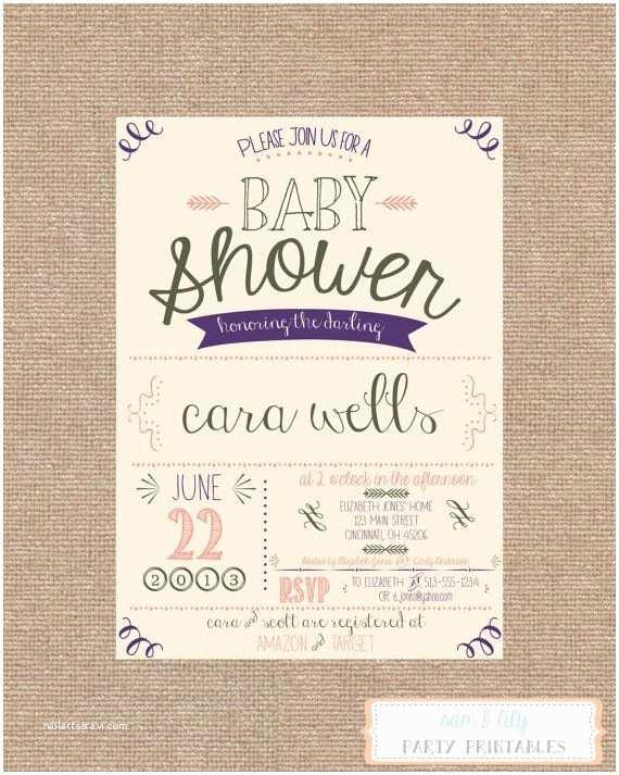 Vintage Baby Shower Invitations Printable Vintage Shabby Chic Baby Shower Invitation